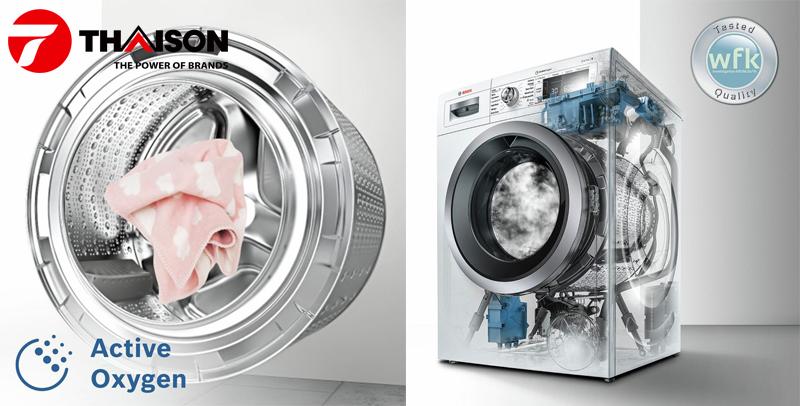 Công nghệ Active Oxygen của máy giặt Bosch thế hệ mới.