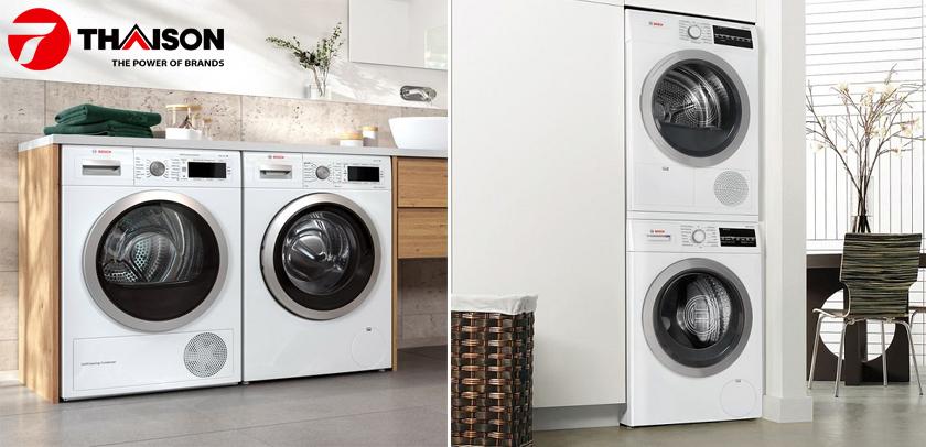 Mua đồng bộ máy giặt - sấy Bosch chính hãng.