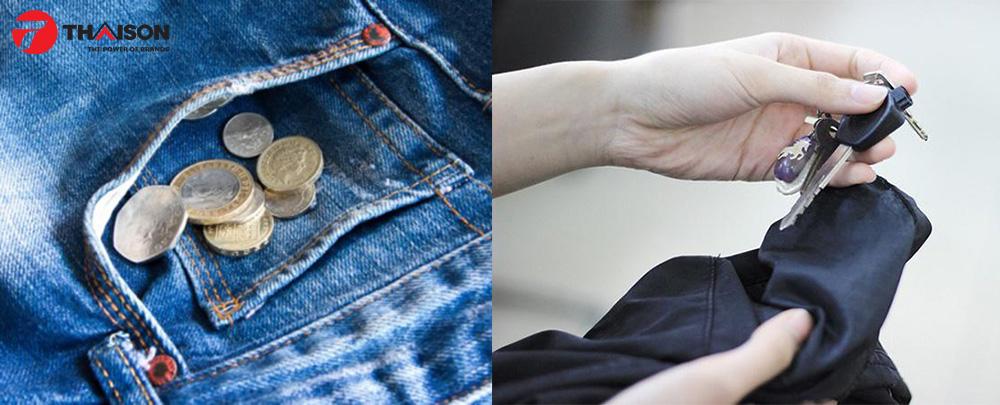 Vật dụng thường để quên  ở trong lồng máy sấy quần áo.