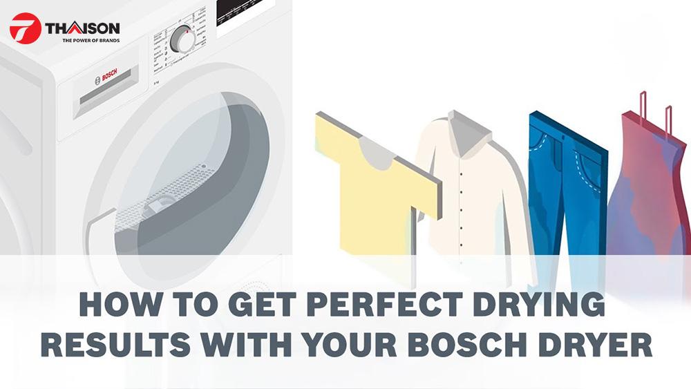 Làm thế nào để máy sấy quần áo phát huy hiệu quả.