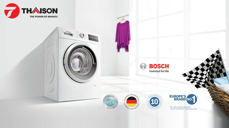 Máy giặt Bosch với cảm biến thông minh tự động lựa chọn thích hợp nhất
