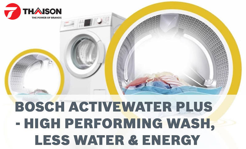 Máy giặt Bosch tiết kiệm nước và năng lượng