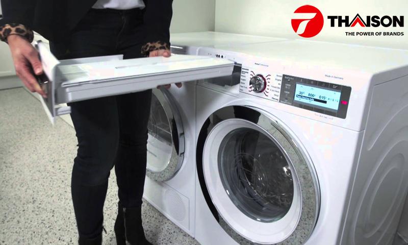 Khay chưa máy giặt Bosch công nghệ I-DOS