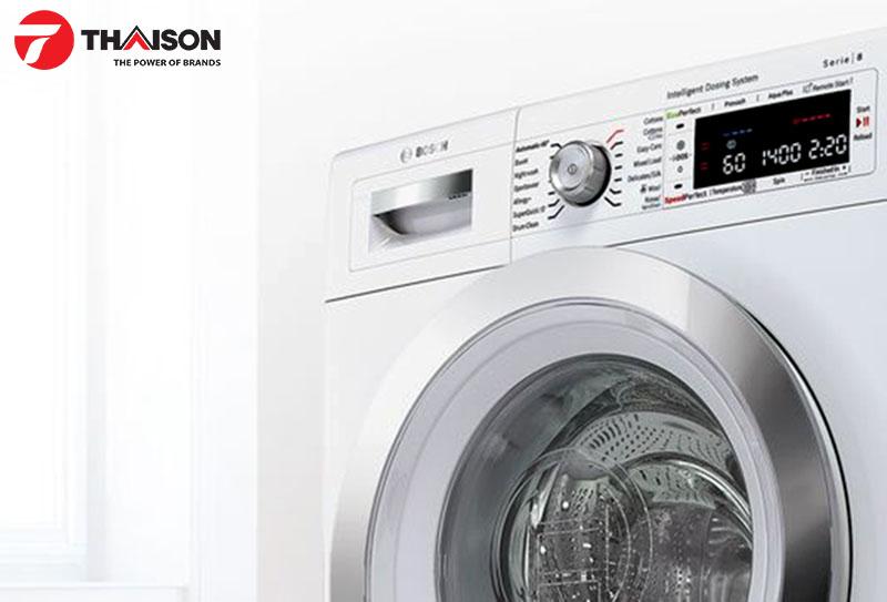 Tốc độ quay cao của máy giặt Bosch vẫn đảm bảo an toàn cho quần áo