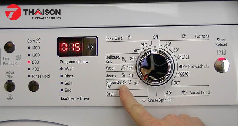 Nhiều lựa chọn nhiệt độ trên một máy giặt tốt
