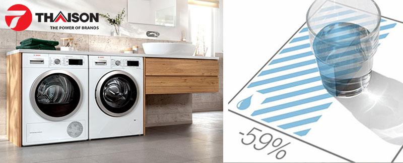Máy giặt Bosch tiết kiệm 59% nước so với máy giặt thường