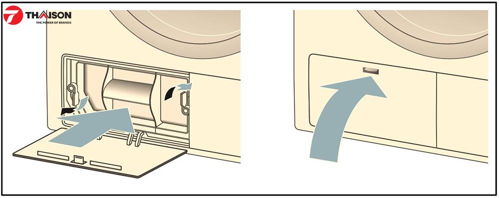 Đóng lắp bảo trì của máy sấy quần áo Bosch.