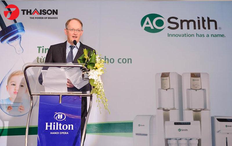 Đại diện A.O.Smith ra mắt sản phẩm máy lọc nước tại Việt Nam