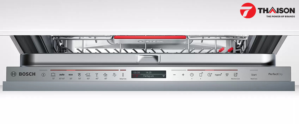 Bảng điều khiển máy rửa bát Bosch Serie 6 âm tủ