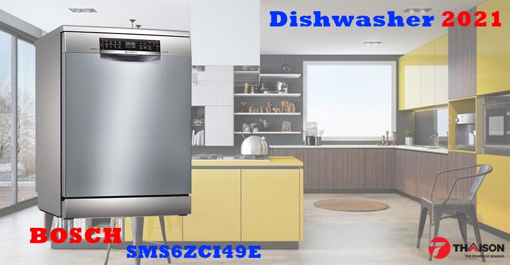 Máy rửa bát Bosch SMS6ZCI49E đời mới 2021 có gì đặc biệt?