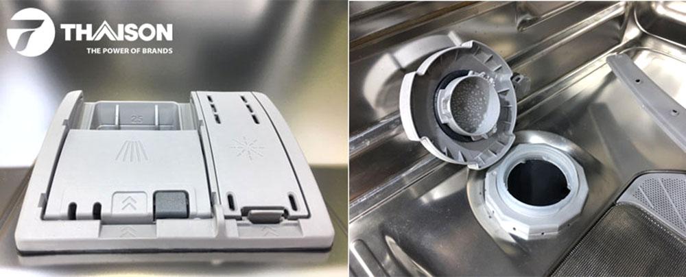 Hệ thống chất tẩy và muối máy rửa bát Bosch