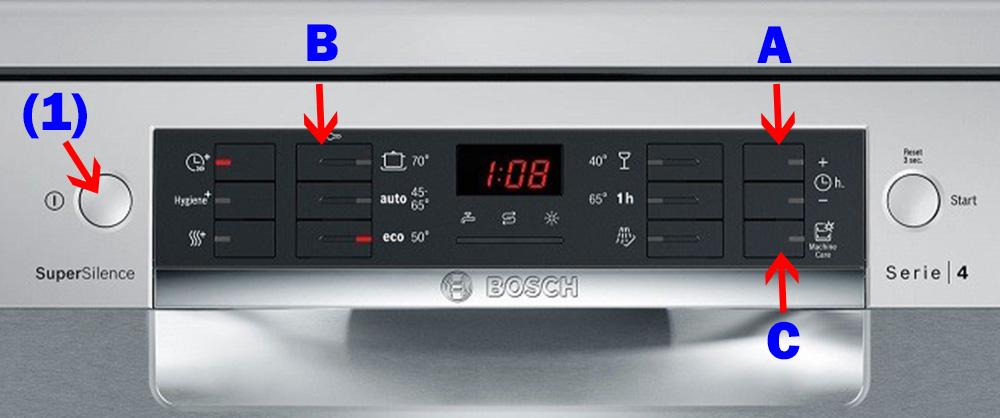 Bảng điều khiển máy rửa bát Bosch SMS46NI03E