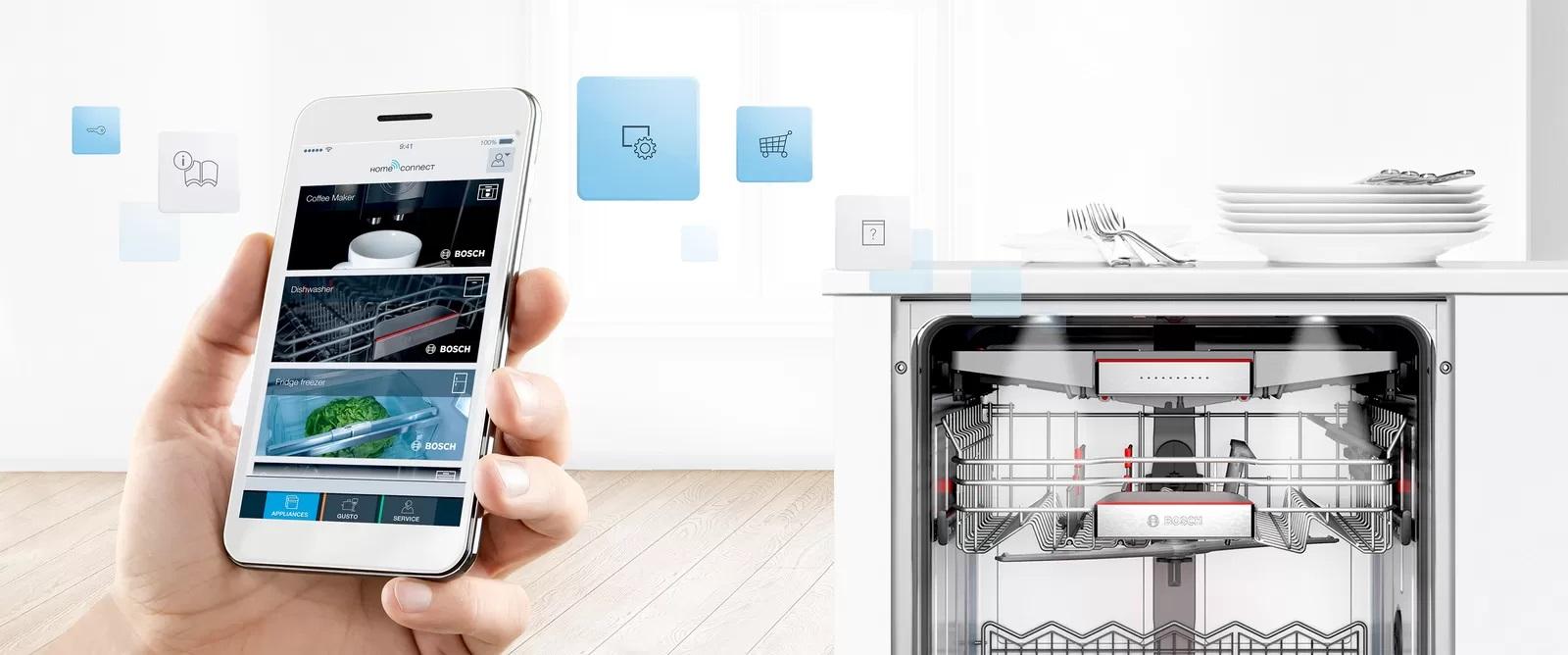 Kết nối ứng dụng HomeConnect điều khiển từ xa.