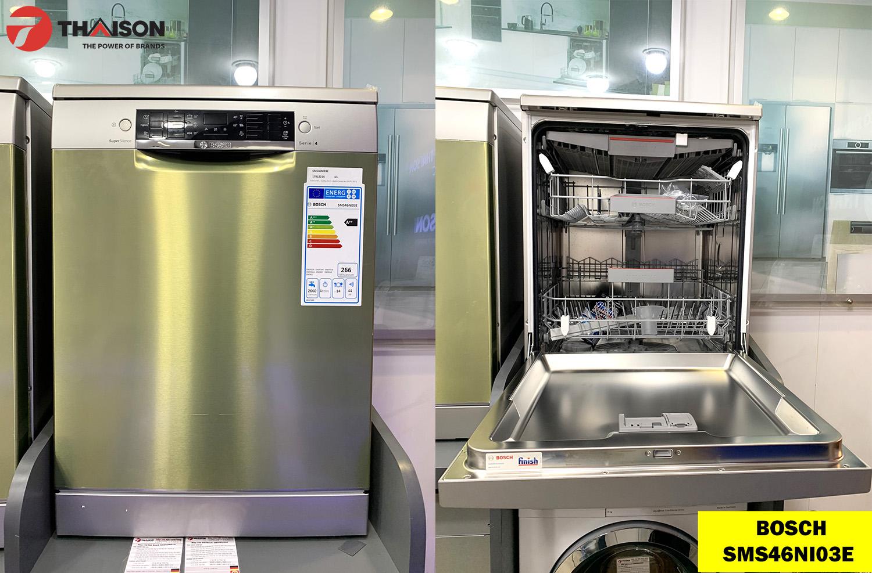 Sản phẩm máy rửa bát Bosch SMS46NI03E tại Showroom