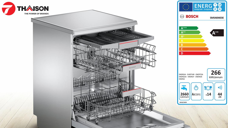 Nhãn năng lượng máy rửa bát Bosch SMS46NI03E