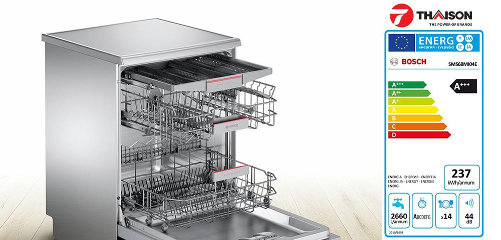Nhãn năng lượng máy rửa bát Bosch