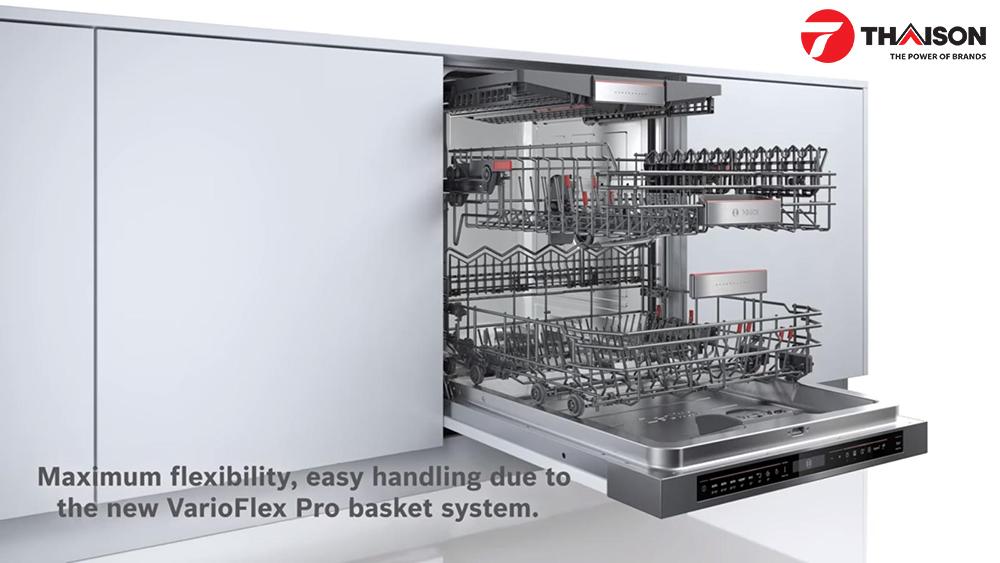 Hệ thống ngăn kéo của máy rửa bát Bosch
