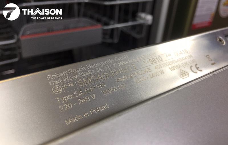 Hướng dẫn sử dụng máy rửa bát Bosch SMS46KI04E