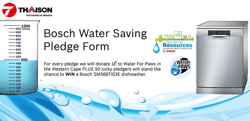 Máy rửa bát Bosch có tiết kiệm nước không