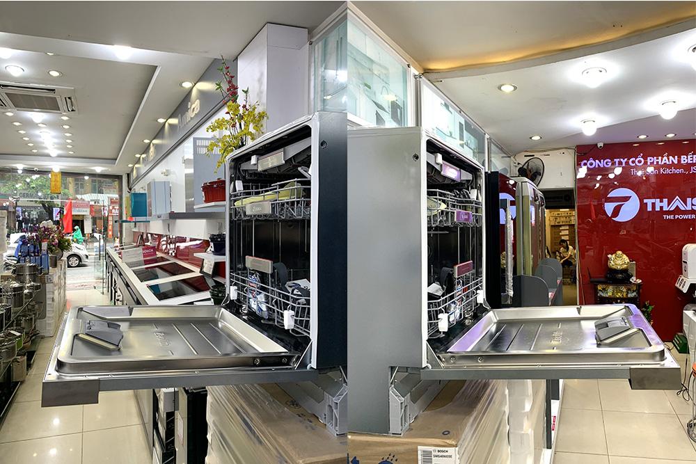 Máy rửa bát Bosch âm bán phần SMI88US36E tại Bếp Thái Sơn.