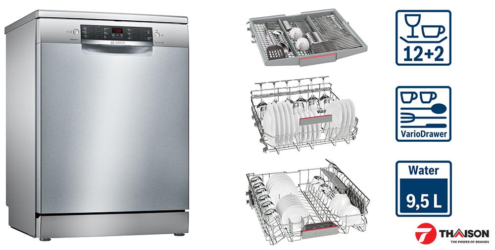 Máy rửa bát Bosch SMS46MI01G tiết kiệm