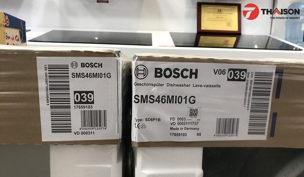 Tem Máy rửa bát Bosch SMS46MI01G chính hãng