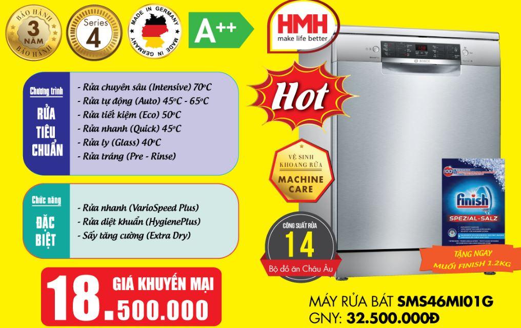 Báo giá máy rửa bát Bosch SMS46MI01G