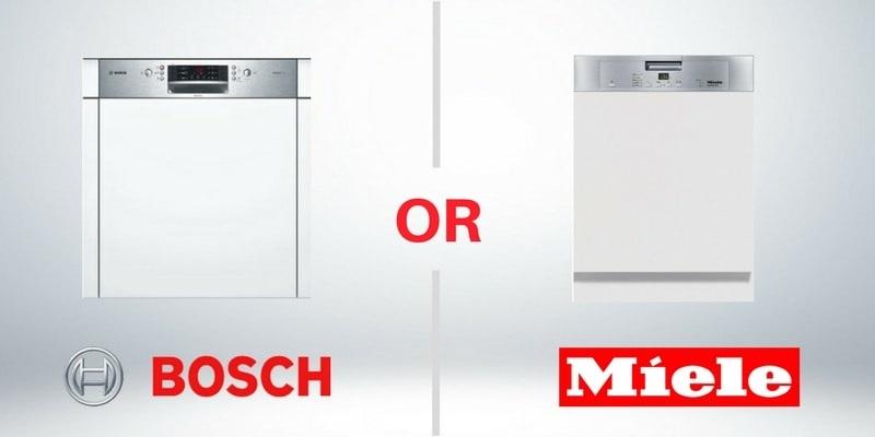 Nên mua máy rửa bát Bosch hay Miele