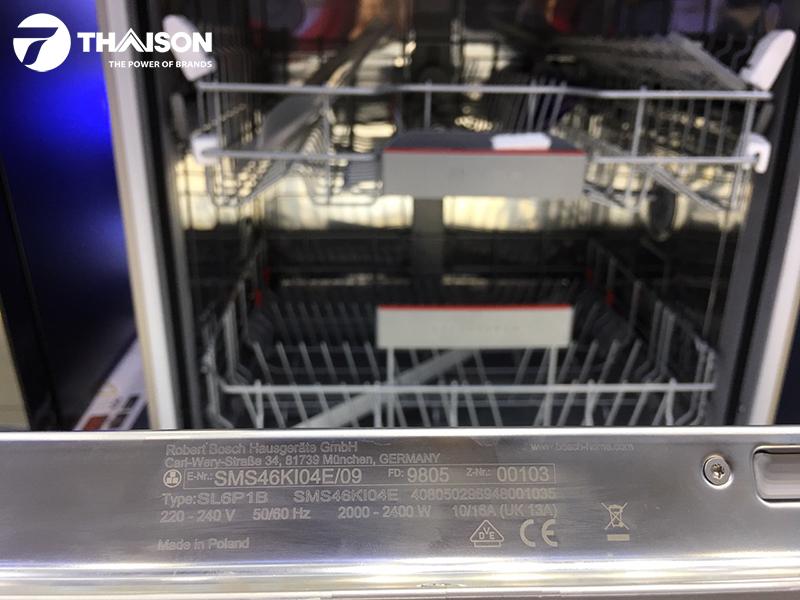 Máy rửa bát Bosch SMS46Ki04E review