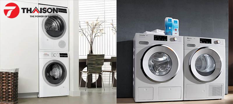Máy giặt Bosch và Miele có màu sắc và kích thước tương đối giống nhau
