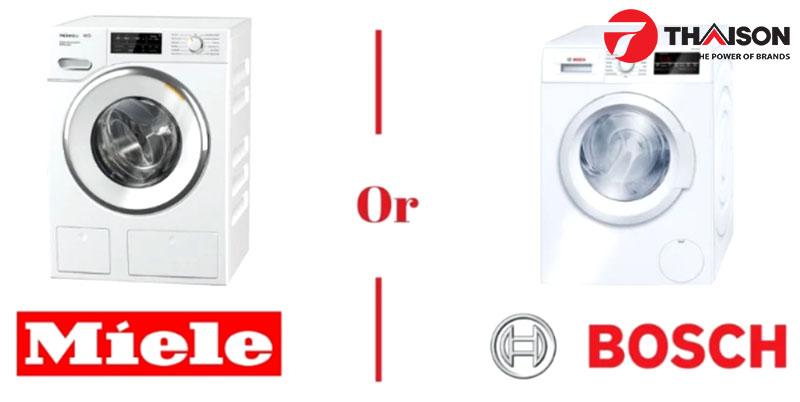 So sánh máy giặt Bosch và Miele