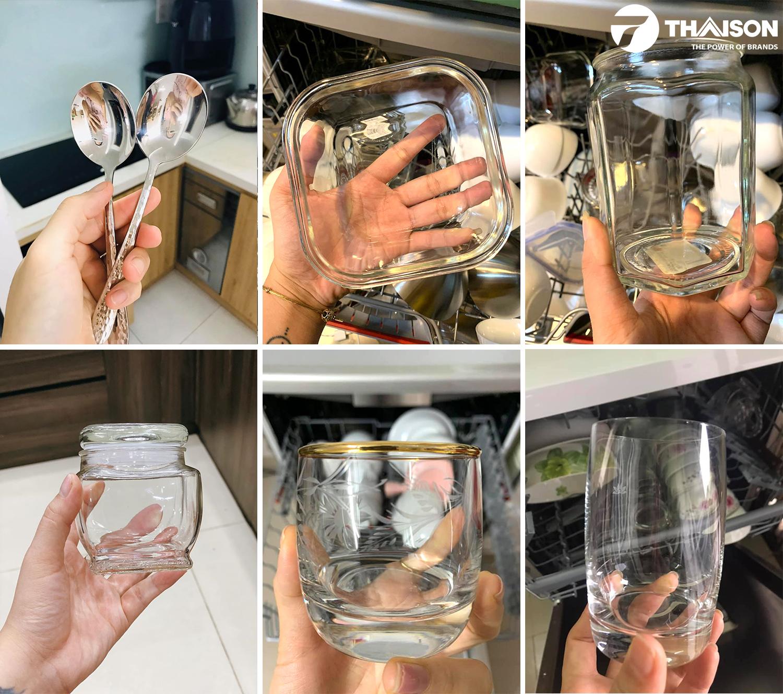 Công nghệ rửa ly thủy tinh giúp sạch sẽ hơn.