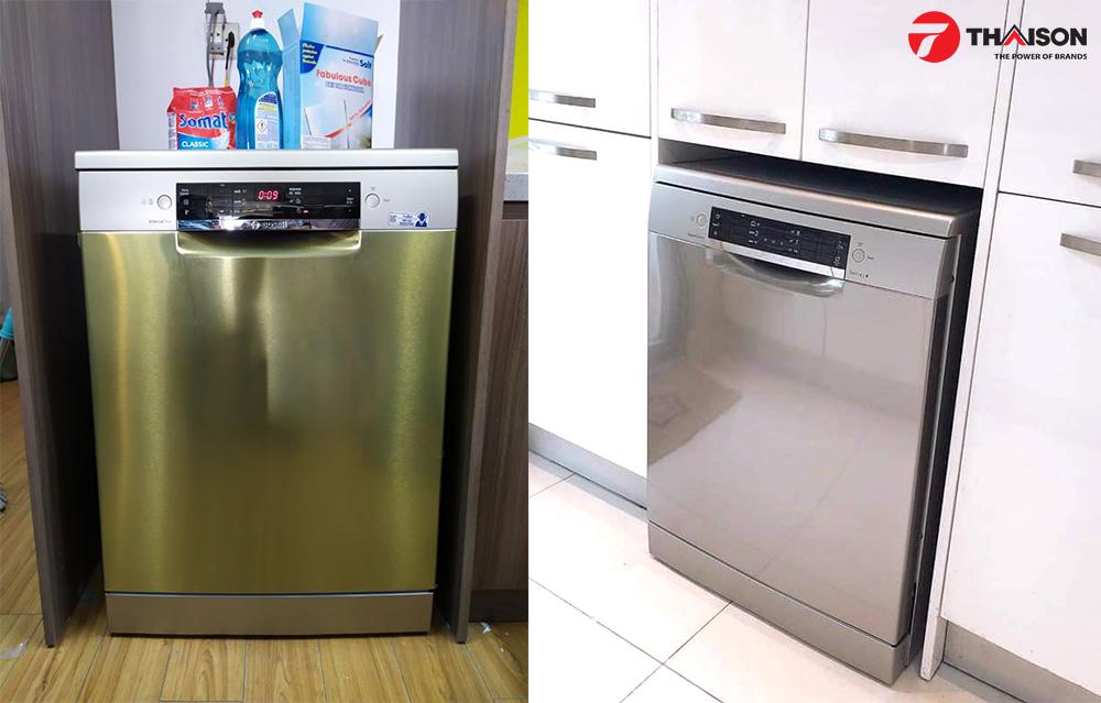 Máy rưa bát Bosch độc lập, linh hoạt hơn trong không gian bếp.