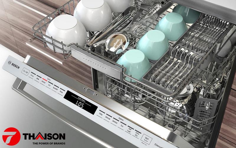 Chế độ rửa tráng trên máy rửa bát Bosch