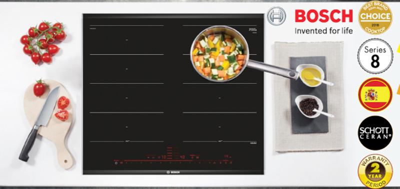 Bếp từ Bosch series 8 hội tụ những tính năng hiện đại nhất
