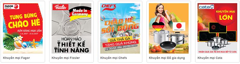 Bếp Thái Sơn khẳng định sức mạnh thương hiệu bởi các hãng thiết bị bếp