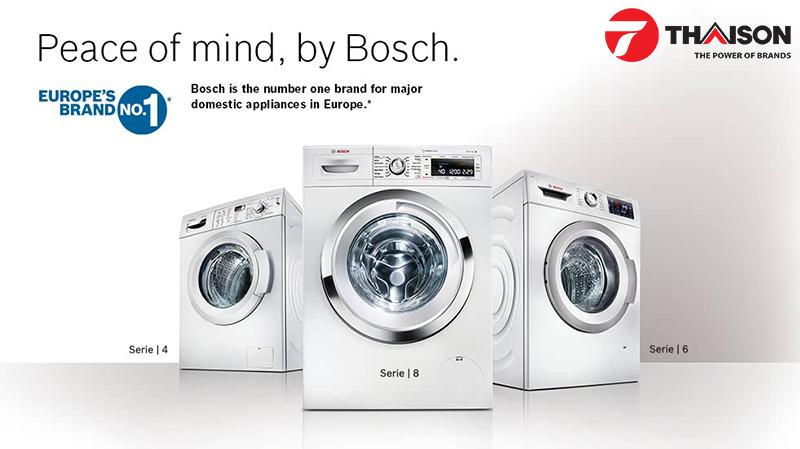 Máy giặt Bosch tích hợp những tính năng hiện đại được người dùng đánh giá cao