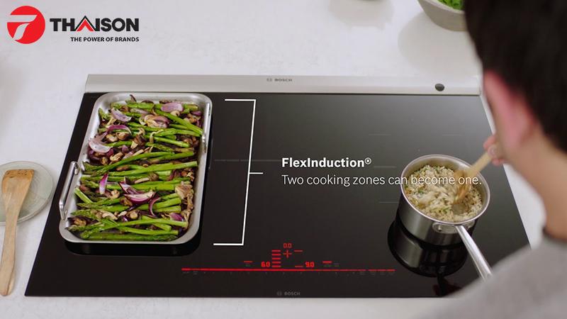 Công nghệ Flexinduction của bếp từ Bosch đem đến sự trải nghiệm mới