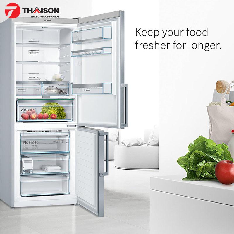 Bảo quản thực phẩm lâu hơn với tủ lạnh Bosch