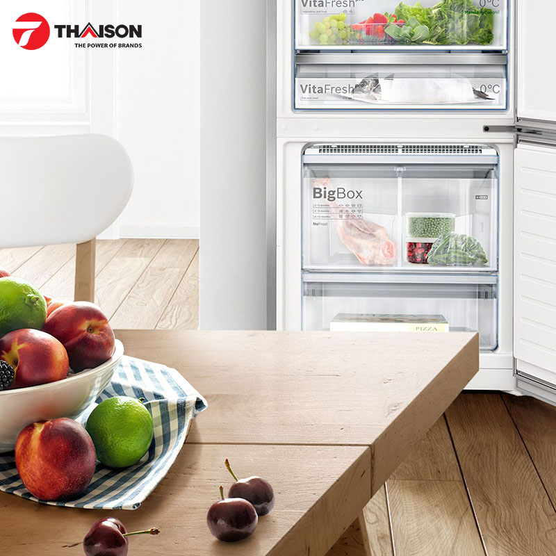 Công nghệ VitaFresh của tủ lạnh Bosch tối ưu nhiệt độ và độ ẩm cho thực phẩm