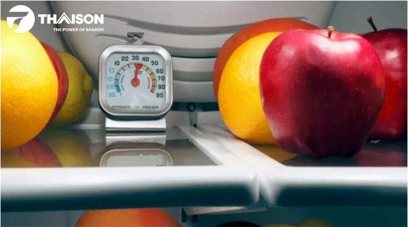 Sử dụng nhiệt kế tủ lạnh để xác định nhiệt độ phù hợp