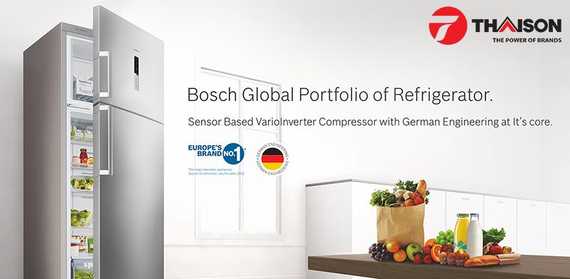 Tủ lạnh Bosch có thể tự điều chỉnh nhiệt độ phù hợp