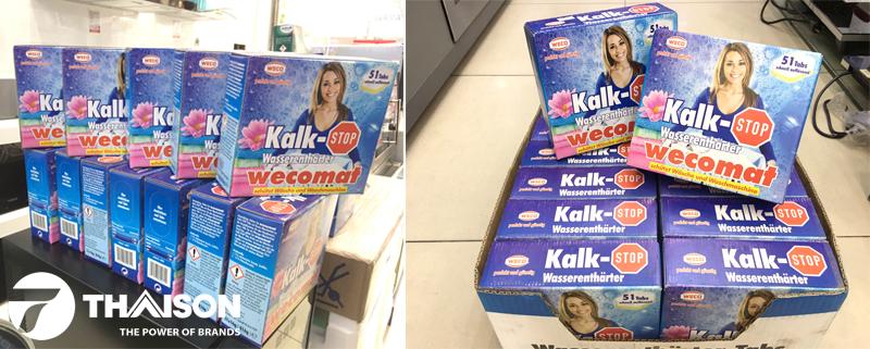 Vệ sinh máy giặt loại tốt mua Wecomat của Đức